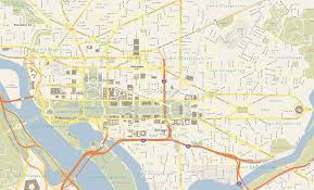 Map Of Washington Cities by District Of Columbia Cities Map