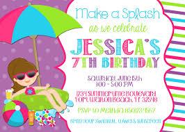 Free Printable Birthday Invitation Cards With Photo Pool Party Invitation Wording Template Markit2d Mckenna U0027s