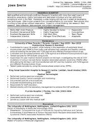 Sample Medical Technologist Resume by Cv Sample For Any Position Resume Writing Lab
