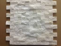 Mosaic Tiles For Kitchen Backsplash Italian White Carrara Split Face 1x2 Mosaic Tile For Kitchen