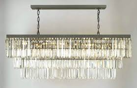 rectangular dining room light ideas and crystal chandelier