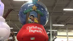 The Home Depot Christmas Decorations Christmas Decor Peanuts Nativity Snow Globe Airblown Inflatable