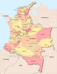 Political Map Of South America Colombia Political Map