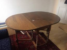 solid oak dining room table extendable kitchen vintage