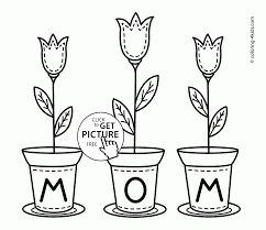 flowers for mom mother u0027s day coloring page for kids coloring