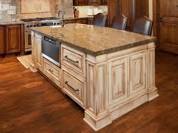 Vintage Kitchen Backsplash Wood Vintage Plain Panel Door Hazelnut Kitchen Island With Bar