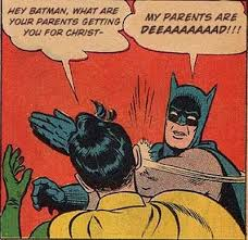 batman, robin slap, parents dead