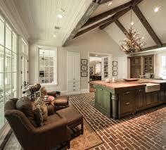 brick floor kitchen kitchen modern with backsplash tile mosaic