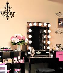 furniture astounding vanity table with lighted mirror designs