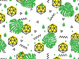 seamless geometric pattern in retro 80s 90s style doodle geometric