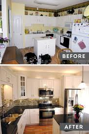 Before And After Kitchen Makeovers Decorating Dear Lillie Kitchen Makeover With Electric Stove And