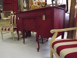 Chalk Paint Furniture Ideas by Emperors Silk Chalk Paint With Dark Wax Painted Red Buffet With
