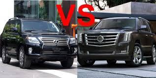 lexus gx vs gmc yukon denali 2015 cadillac escalade vs 2015 lexus lx 570 design interior