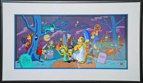 the simpsons halloween of horror simpson limited edition pan cel
