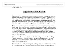 argumentive essay outline College Essays  College Application Essays   Examples of good     Argumentative Essay Examples