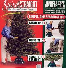 amazon com swivel straight 1 minute christmas tree stand for