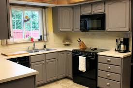 Kitchen Refacing Ideas by Sherwin Williams Amazing Gray Paint Color On Cabinets By Wcupstid
