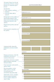 Online Technical Writing  Recommendation and Feasibility Reports Schematic view of recommendation and feasibility reports  Remember that this is a typical or common model for the contents and organization