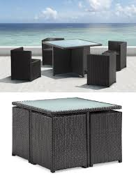 Resin Wicker Patio Furniture Sets - furnishing a small condo balcony without sacrificing style