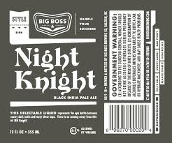 Big Boss Night Knight Black IPA | BeerPulse