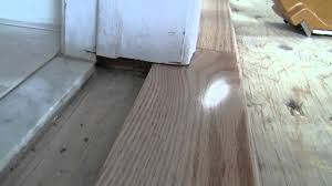 hardwood bathroom transition how to video youtube