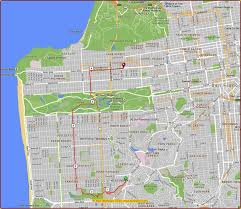 San Francisco Cable Car Map by Map Of Sunset District San Francisco Michigan Map