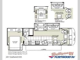 Fleetwood Bounder Floor Plans by Used 2011 Fleetwood Rv Southwind 32vs Motor Home Class A At