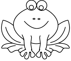 tadpole coloring page frog tadpole clipart 17