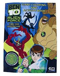 amazon ben 10 coloring u0026 activity book ben10 u0027alien force