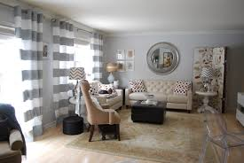 black and white striped curtains living room decorating clear