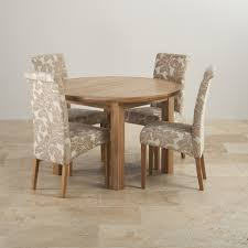 Round Dining Table Sets For 6 Simple White Round Dining Table 4 Legs Glass With Leather Chairs