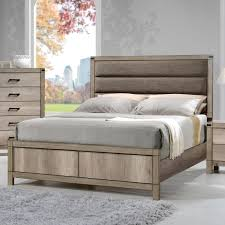 crown mark matteo queen upholstered low profile bed del sol