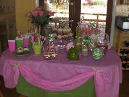 candy buffet for a princess and the frog baby shower parties i