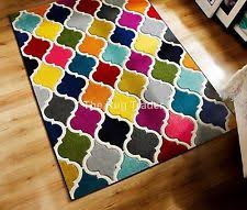 Coloured Rug Retro Funky Pixel Multi Coloured Checked Rug In Various Sizes Ebay