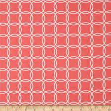 metro living interlocking circles coral discount designer fabric