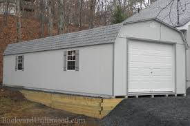 garages large storage single car garages backyard unlimited 14 x36 high barn garage with gable vents