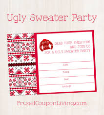 free ugly sweater party invite printable