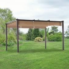 Pergolas Home Depot by Hampton Bay Steel Pergola With Canopy Pergola Gazebo Ideas