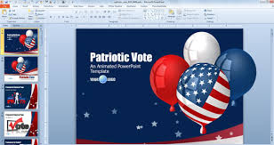 Good Independence Day PowerPoint Templates for July  th Free PowerPoint Templates independence balloons us flag powerpoint template