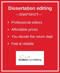 Dissertation editing service outline Global English Editing