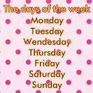 เพลงภาษาอังกฤษเกี่ยวกับวันในหนึ่งสัปดาห์สำหรับเด็ก พร้อมเนื้อร้อง ...