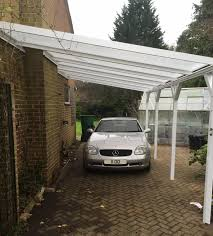 Carport Styles by Leanto Carport With Chimney Breast Lumac Canopies