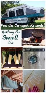 Pop Up Camper Interior Ideas by Pop Up Camper Remodel Getting The Smell Out Camper Remodeling