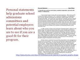 Personal statementshelp graduate schooladmissionscommittees