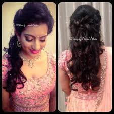 vijetha looks simple yet elegant for her reception makeup and hairstyle by s studio