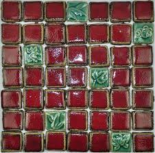 Green Tile Backsplash by Hand Craft Red Porcelain Mosaic Tiles Backsplash Kitchen Wall Tile