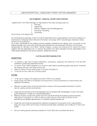 Sample Resume Of Office Administrator by Sample Resume Resume Front Office Manager Job Duties And