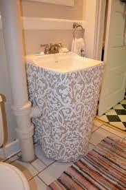 Diy Ideas For Bathroom by Best 25 Bathroom Sink Skirt Ideas On Pinterest Sink Skirt