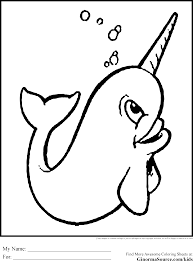 narwhal coloring pages narwhal coloring page free printable