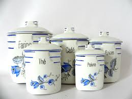 Pottery Canisters Kitchen French Cafe Ceramic Canisters S 5 Omero Home